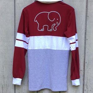 Ivory Ella! Long Sleeve Rugby Polo Shirt